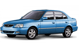 Каркасные шторки на Hyundai Accent Седан ТагАЗ 2000 - 2012