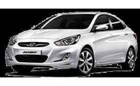 Каркасные шторки на Hyundai Accent Седан 2010 - 2014