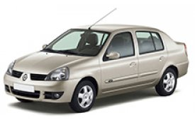 Каркасные шторки на Renault Symbol  Седан 2002 - 2008