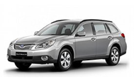 Каркасные шторки на Subaru Outback Универсал 2009 - 2014