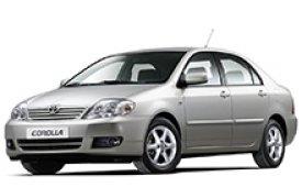 Каркасные шторки на Toyota Corolla Седан правый руль 2000 - 2008