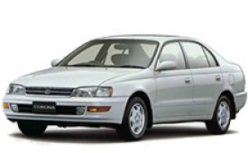Каркасные шторки на Toyota Corona Седан правый руль 1992 - 1998