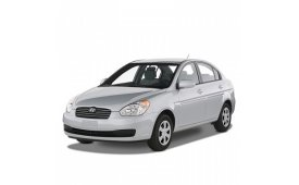 Каркасные шторки на Hyundai Accent Седан 2006 - 2012