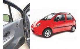 Каркасные шторки на Daewoo Matiz Хетчбэк 5 дв. С обшивкой дверных карт 2000 - 2015