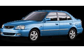Каркасные шторки на Hyundai Accent Седан ТагАЗ 1999 - 2005