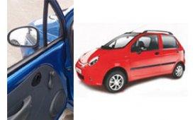 Каркасные шторки на Daewoo Matiz Хетчбэк 5 дв. Без обшивки дверных карт 2000 - 2015