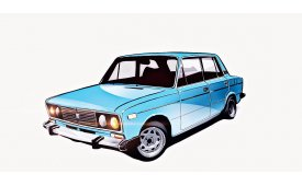 Каркасные шторки 2106 Седан 1976 - 2005