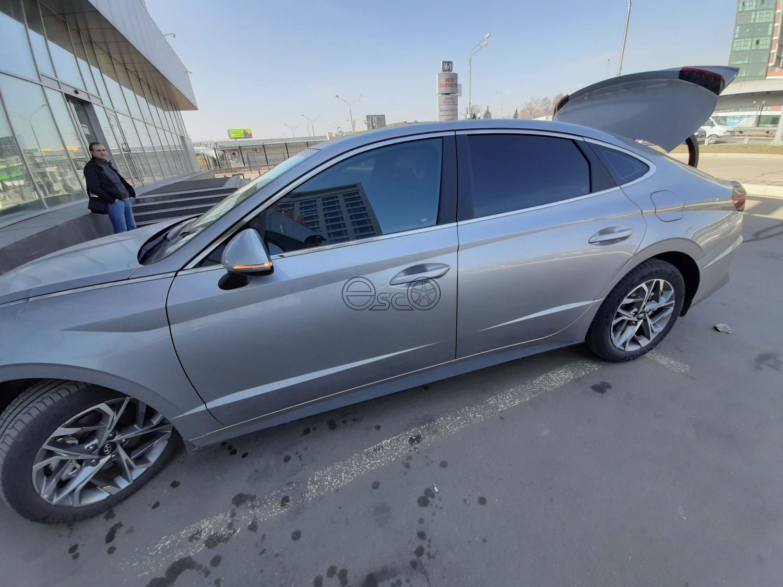 Каркасные шторки на Hyundai Sonata 8