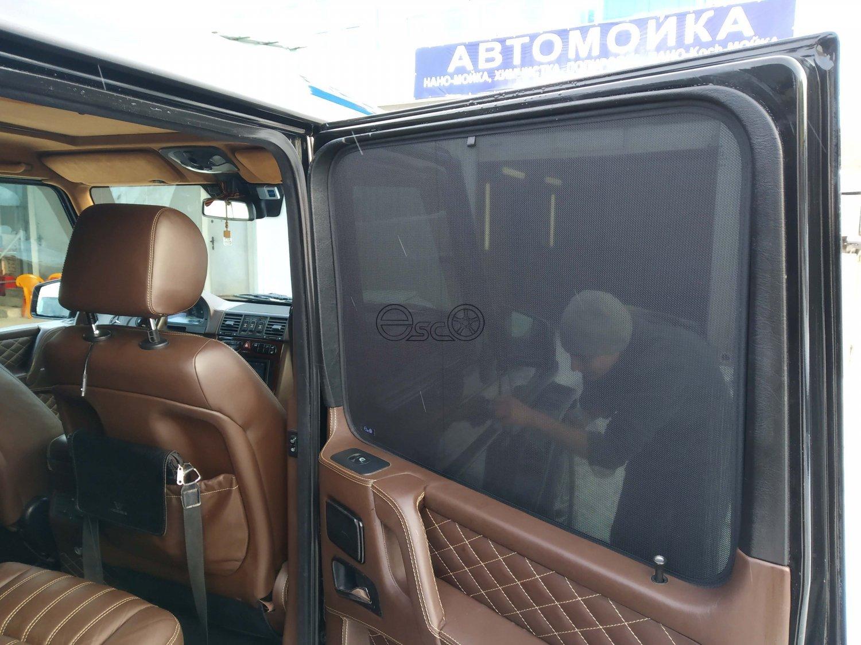 Каркасные автошторки на Mercedes-Benz G-Class W463