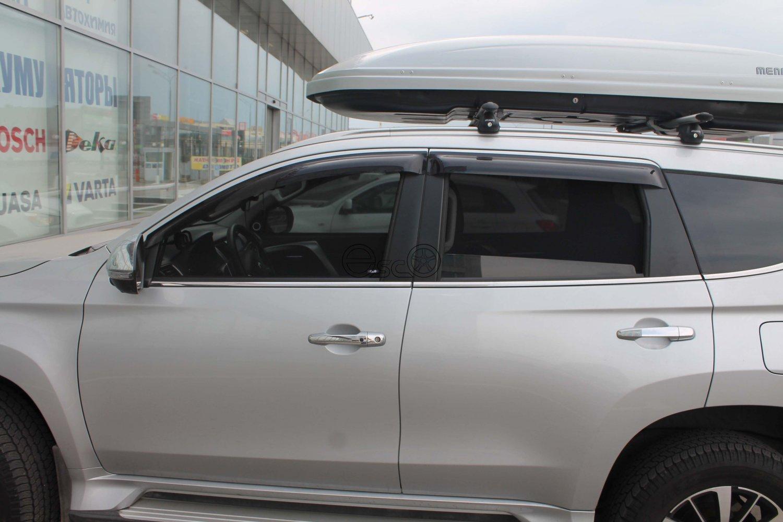 Каркасные шторки на Mitsubishi Pajero Sport 3