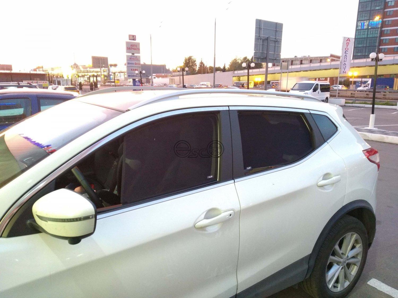 Каркасные шторки на Nissan Qashqai 2