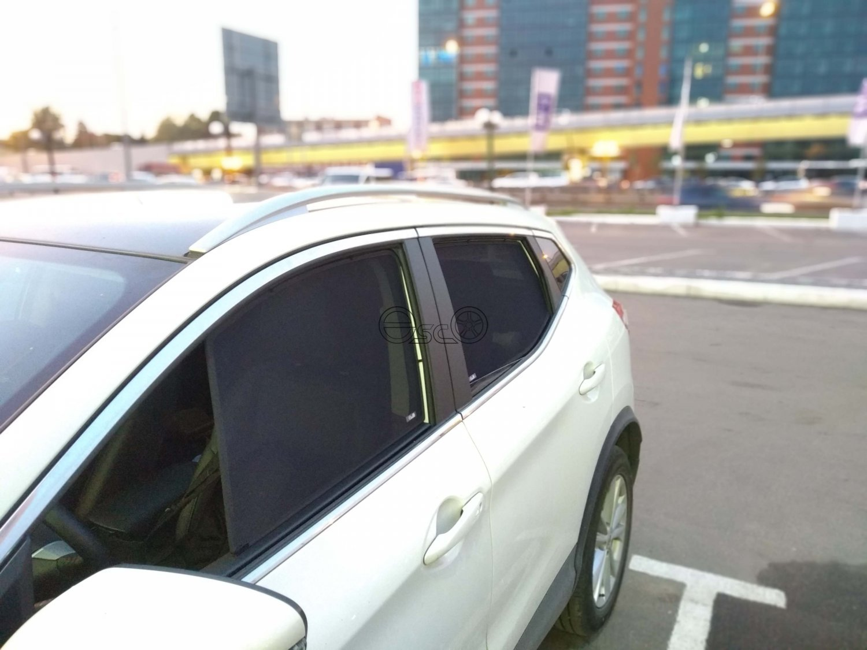 Каркасные сетки на окна Nissan Qashqai 2